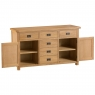 Cookes Collection Colchester 2 Door 6 Drawer Sideboard 3