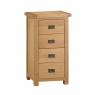 Cookes Collection Colchester 4 Drawer Narrow Chest