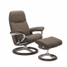 Stressless Promotional Consul Medium Signature Chair and Stool 1