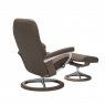 Stressless Promotional Consul Medium Signature Chair and Stool 4