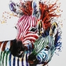 Party Zebras Liquid Art Framed Print 2  2