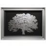 One Tree Silver Print with Silver Frame 1