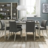 Cookes Collection Romy Soft Grey Medium Dining Table 6