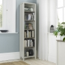 Cookes Collection Romy Soft Grey Narrow Bookcase 3