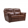 Cookes Collection Lepus Leather 2 Seater Recliner Sofa 1