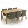 Cookes Collection Romy Large Dining Table and 6 Chairs 2
