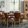 Cookes Collection Nantes Oak Dining Table and 6 Chairs 2