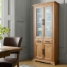 Cookes Collection Nantes Oak Display Cabinet 3